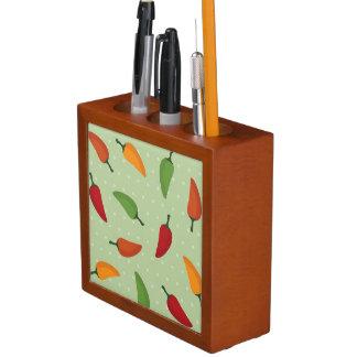 Chilli pepper pattern desk organiser