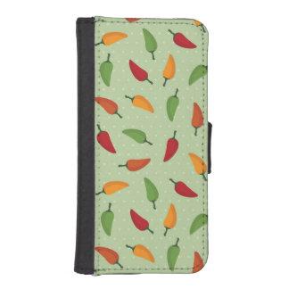 Chilli pepper pattern iPhone SE/5/5s wallet case