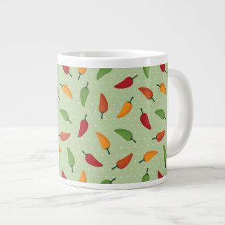 Chilli pepper pattern large coffee mug