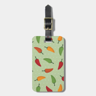 Chilli pepper pattern luggage tag