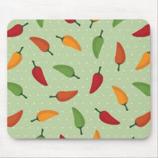 Chilli pepper pattern mouse mat