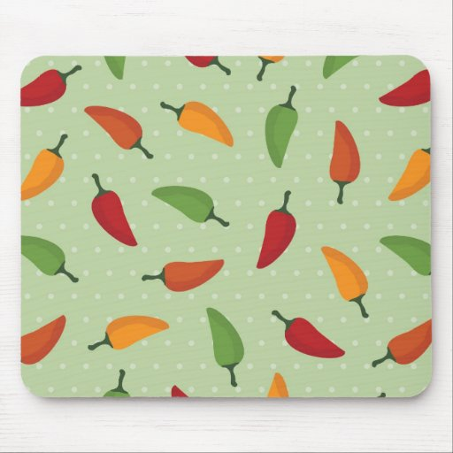 Chilli pepper pattern mouse pad