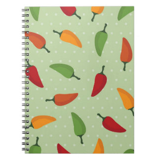Chilli pepper pattern notebook
