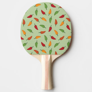 Chilli pepper pattern ping pong paddle