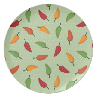 Chilli pepper pattern plate