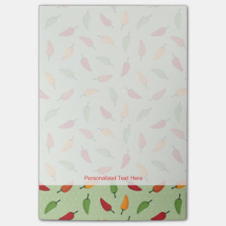 Chilli pepper pattern post-it notes