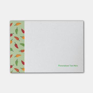 Chilli pepper pattern post-it® notes