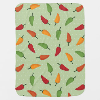 Chilli pepper pattern pram blankets