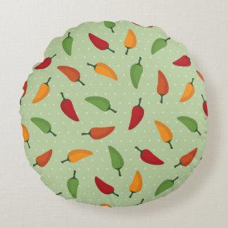 Chilli pepper pattern round cushion