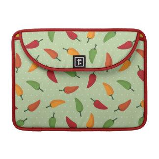 Chilli pepper pattern sleeve for MacBooks