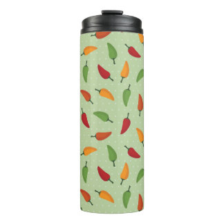 Chilli pepper pattern thermal tumbler