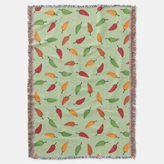 Chilli pepper pattern throw blanket