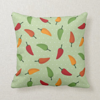 Chilli pepper pattern throw pillow