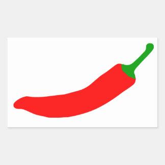 Chilli Pepper Rectangular Sticker