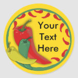 Chilli Pepper Round Sticker