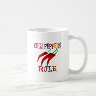 Chilli Peppers Rule Basic White Mug