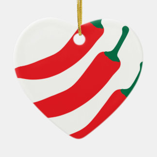 Chilli Red Hot Three Peppers Christmas Ornament