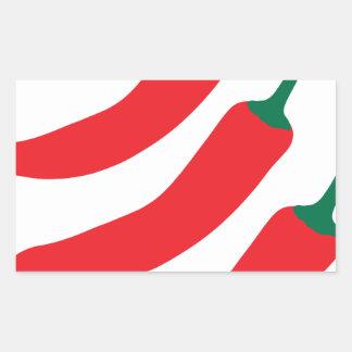 Chilli Red Hot Three Peppers Rectangular Sticker