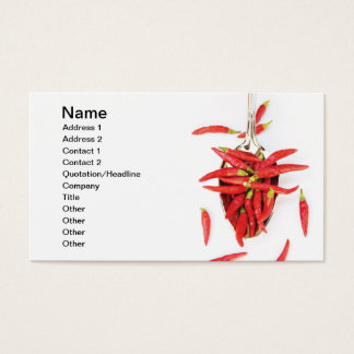 Chilli spoon business card
