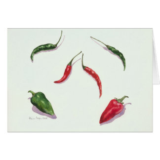 Chillies and Peppers 2005 Greeting Card