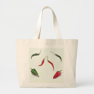 Chillies and Peppers 2005 Large Tote Bag