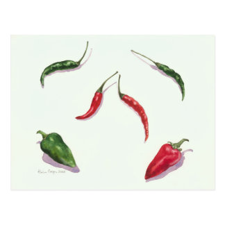 Chillies and Peppers 2005 Postcard