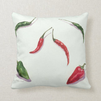 Chillies and Peppers 2005 Throw Pillow