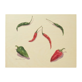 Chillies and Peppers 2005 Wood Print