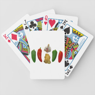 Chillies Garlic and Ginger Bicycle Playing Cards