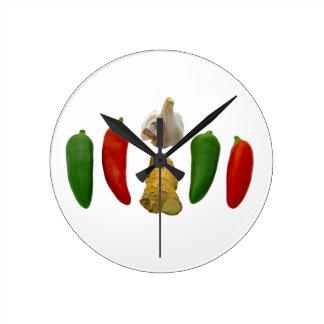 Chillies Garlic and Ginger Round Clock