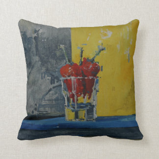 Chillies in a Glass Cushion