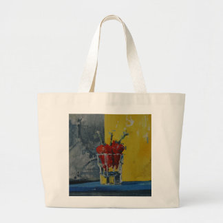 Chillies in a Glass Large Tote Bag