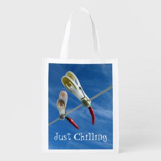 Chillies on the Washing Line Reusable Bag