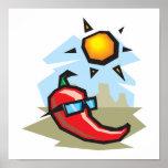chillin chilli pepper poster