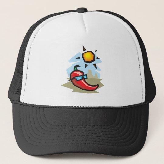 chillin chilli pepper trucker hat