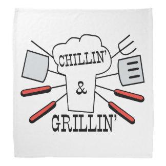 Chillin & Grillin BBQ Fun Bandana
