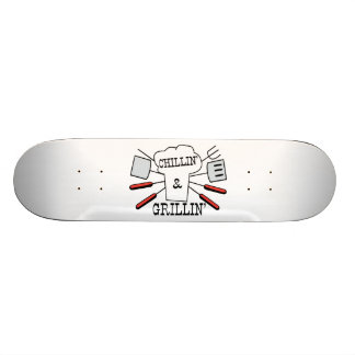 Chillin & Grillin BBQ Fun Skateboard Deck