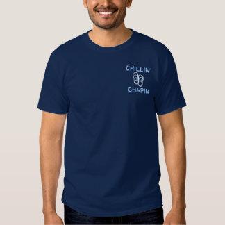 Chillin on Chapin Beach Dennis MA flipflop Tee Shirt
