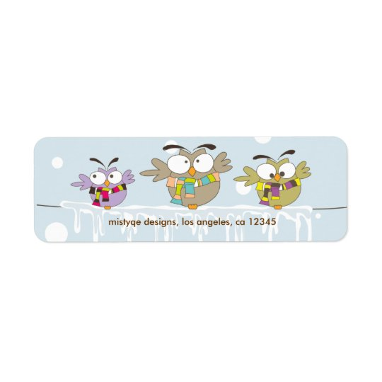 Chillin' Owls Avery Return Address Label
