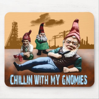 Chillin With My Gnomies Mouse Mat