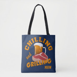 Chilling & Grilling bags Tote Bag