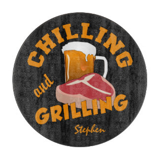 Chilling & Grilling custom name cutting board