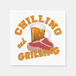 Chilling & Grilling paper napkins Disposable Napkin