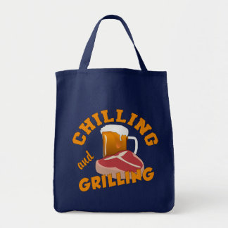 Chilling & Grilling totes Grocery Tote Bag