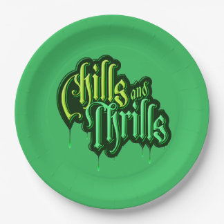 Chills and Thrills Halloween Party Paper Plates