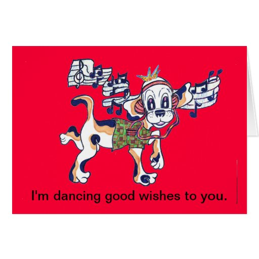 Chilly Dog dancing on your card