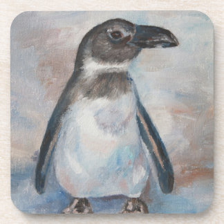 Chilly Little Penguin Cork Coaster