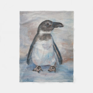 Chilly Little Penguin Fleece Blanket