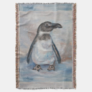 Chilly Little Penguin Throw Blanket