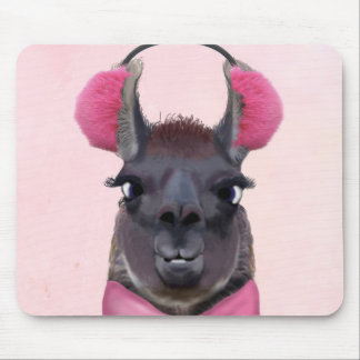 Chilly Llama Pink Mouse Pad